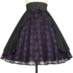 Dresses & Skirts - Plus Size Gothic Steampunk Clothing Lace Skirt